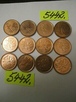 12 x one cent coins 2000's   era  Canada     12   gms      Mar5442