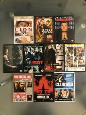Selection of ACTION / THRILLER movies on DVD. Bundle of 10.