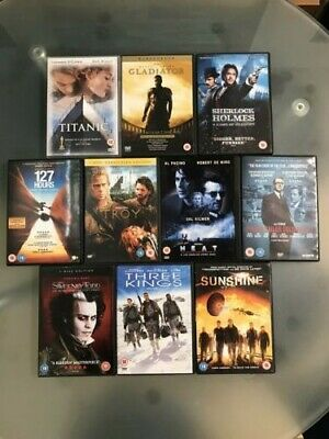 Selection of ADVENTURE / DRAMA movies on DVD. Bundle of 10.