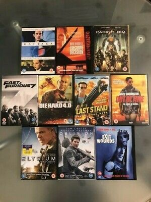 Selection of ACTION / ADVENTURE movies on DVD. Bundle of 10.