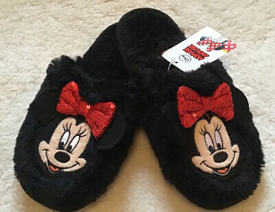 Girls Disney Minnie Mouse Cosy Slippers Shoes Size 2 Primark