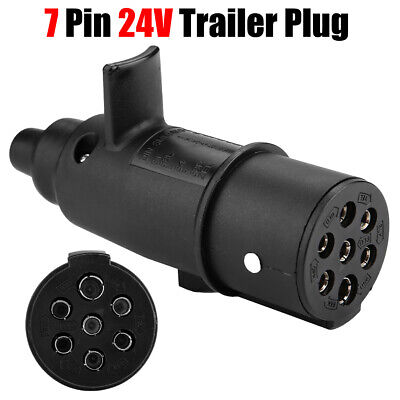 24V 7 Pin N Type Trailer Plug Towing Connector Adapter For Trailer Truck Caravan