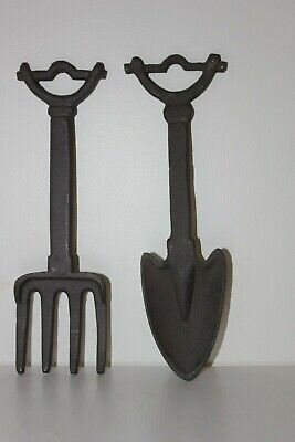 Cast Iron Fork And Trowel Hanging Garden Ornament ,Rustic