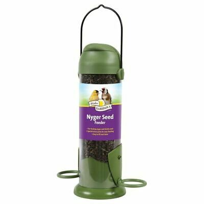 Walter Harrisons FLIP TOP NYGER SEED FEEDER Wild Bird Niger Plastic Feeding Tube