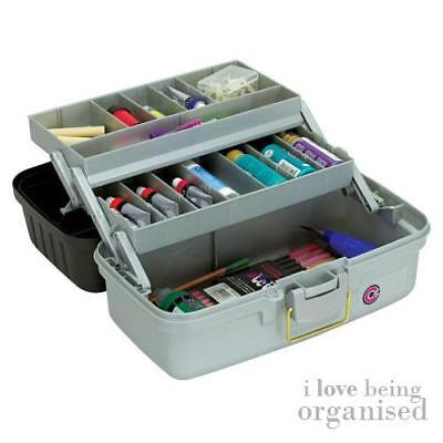 Creative Options Medium 2 Tray Caddy Art Box Craft Tool Carrier Organiser