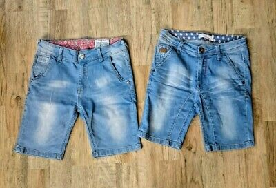 Bundle Of 2x Boys Jeans Shorts Jorts GBY Exclusive Denim Size Age 10 Years Blue