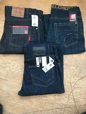 3 Pairs Assorted Kids  Skater Jeans Aged 14,16,18 New Es Etnies Element Jeans