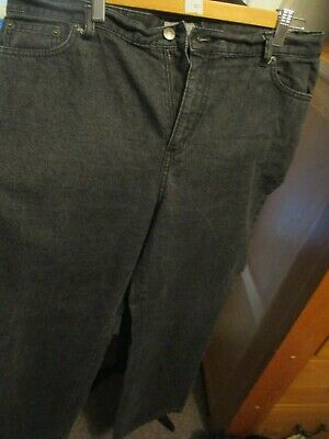 Ladies Black Denim Jeans, Marks And Spencer, Size 18R, 100% Cotton, Exc-Con
