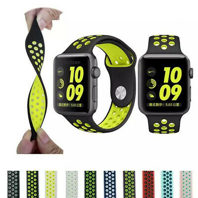 Silicone Sport iWatch Band Strap For Apple Watch Series 5 4 3 38/42/40/44/mm
