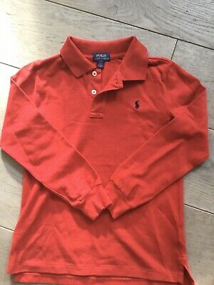 Boys Ralph Lauren Long Sleeved Polo Shirt - Size Age 7