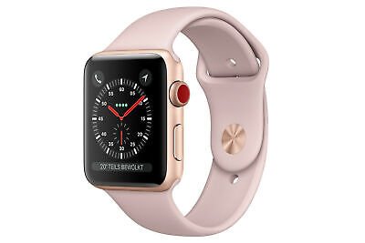 Apple Watch Series 3 roségold 38mm Smartwatch Cellular A1889 MQKF2B/A