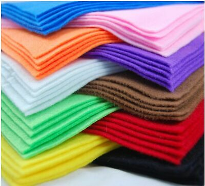 A4 Felt Fabric Sheets for Arts and Crafts Many Colours & Quantities