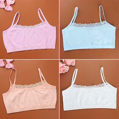 Girls Sport Bra Seamless bra Children Lace Vest Cotton Padded Wireless Crop top