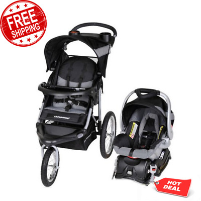 Infant Stroller and Car Seat Expedition Jogger Travel System Canopy Cup Holders