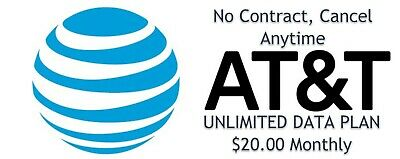AT&T Unlimited Data Plan 4G LTE AT&T UnThrottled, $34.99 Nighthawk