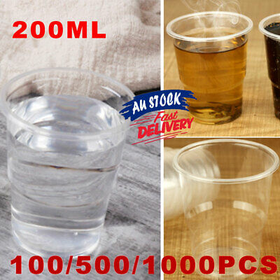 200ml Reusable White Disposable BULK Drinking Water Cup Plastic Cups  Party ACB#