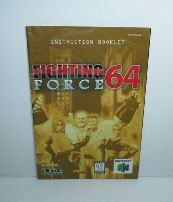 1999 Fighting Force 64 Game Manual Only for Nintendo 64 N64 Crave Entertainment