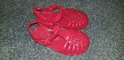 Girls Red Next Jelly Shoes Size 4