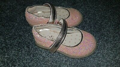 Girls Pink Glitter Shoes Next Size 4