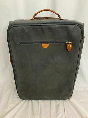 Brics My Life Navy Blue Suede Rolling Suitcase