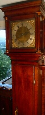 "Antique Slim Oak ""  Brighthelmstone  "" Longcase / Grandfather Clock"