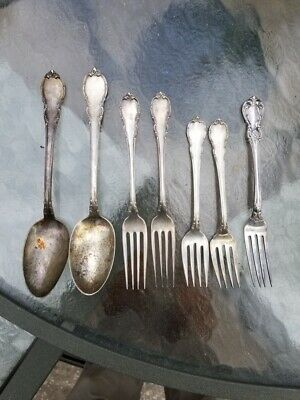 Estate STERLING SILVER Flatware Mixed Lot - 347.0 Grams towle lunt Old master