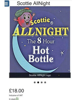 Scottie Allnight microwave hot water bottle (no water) - 8 Hours of HEAT !