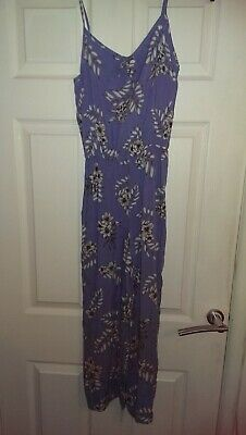 Girls new look 915 generation blue and white jumpsuit strappy age 14
