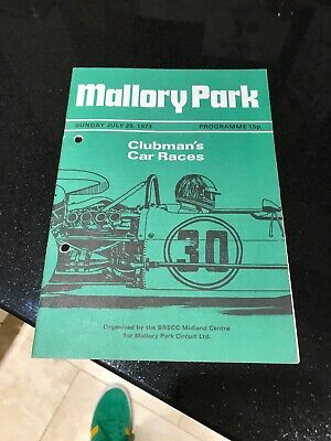 Mallory Park Race Programme 29th July 1973 FF100 Clubmans