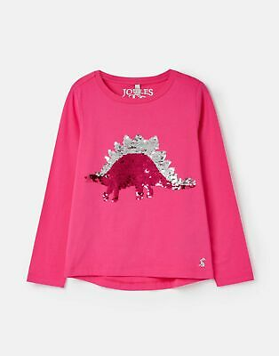 Joules 207174 Long Sleeve Jersey Top Shirt in TPKDINO Size 4yr