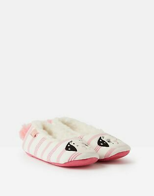 Joules Girls Dreama Character Slippers in PINK DOG Size XS