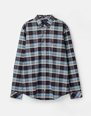 Joules 209587 Long Sleeve Classic Fit Check Shirt in MULTI BLUE CHECK Size XXL