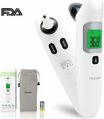 Ear and Forehead Thermometer,Hiveseen Digital Medical Infrared Thermometer for B