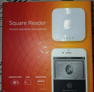 New Square A-SKU-0113 Contactless Credit Card and Chip Reader - White sealed