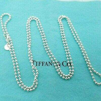 Tiffany & Co. Large Bead 925 Sterling Silver Ball Beaded 34' Inch Chain
