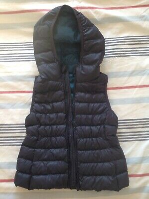 Uniqlo Kids Sleeveless Jacket With Hood, Navy, 5-6y, Brand New, No Tag