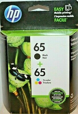 HP #65 2 Pack Combo Ink Cartridges 65 Black + Color Genuine TOA36AN#14 Unopened