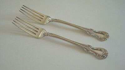 "2 Towle Sterling Silver OLD MASTER dinner forks no monogram 7.25"" solid no scrap"