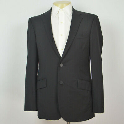 RAG & BONE 100% Wool Full Canvas Black Two Buitton Blazer Sport Coat Sz 40R