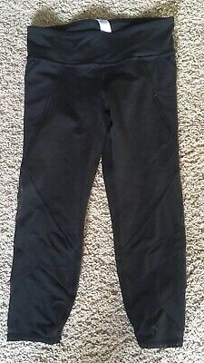 Ivivva by Lululemon  GIRLS Fold on Tight Crop,SIZE 10 BLK Leggings