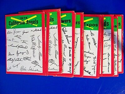 1974 Topps Vintage -  Baseball Card Team Checklists -  U Pick (1) or More!!!
