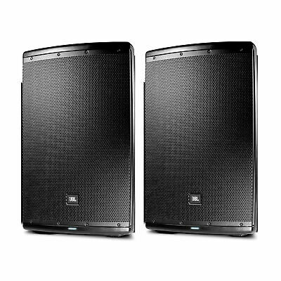 (Pair) JBL EON615 Two-Way Self-Powered Monitor Speaker - Black