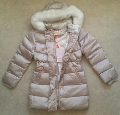 Baker by Ted Baker Girls' Ivory Padded Shower Resistant Coat Age 11 Years