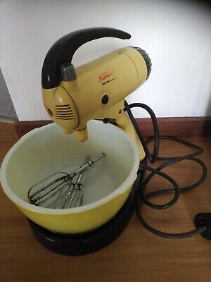 Yellow Vintage Sunbeam Mixmaster, Model A-9B-B #405, good condition