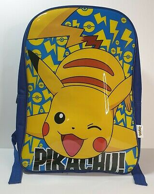 Pokemon Pikachu Backpack Lightweight Blue Bnwot