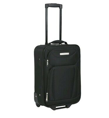 Soft Case Travel Luggage Carry On Cabin Suitcase Trolley Roll Wheels Lightweight