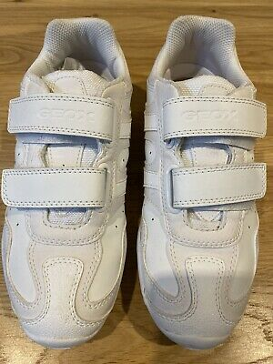 Geox Respira White Leather Trainers Girls  Size Uk 2.5