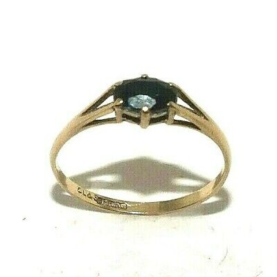 Ladies Womens 9ct Yellow Gold Ring Set With A Black Cz Stone Uk Size L 28 90 Picclick Uk