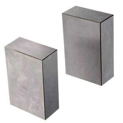 1 Pair 123 Blocks 1-2-3 Ultra Precision 0.0002 Hardened Without Holes F6C7