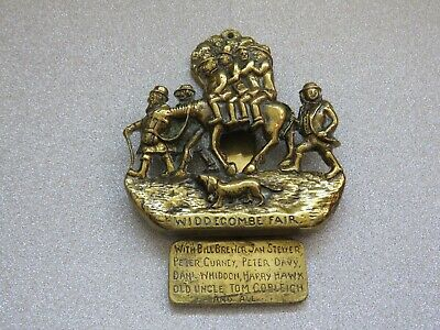 Vintage Brass Door Knocker Widdecombe Fair Uncle Tom Cobleigh and All